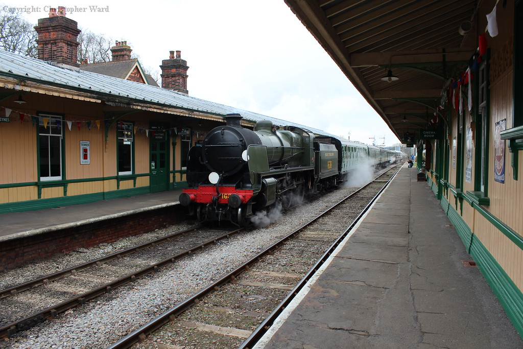 The U class draws into the station