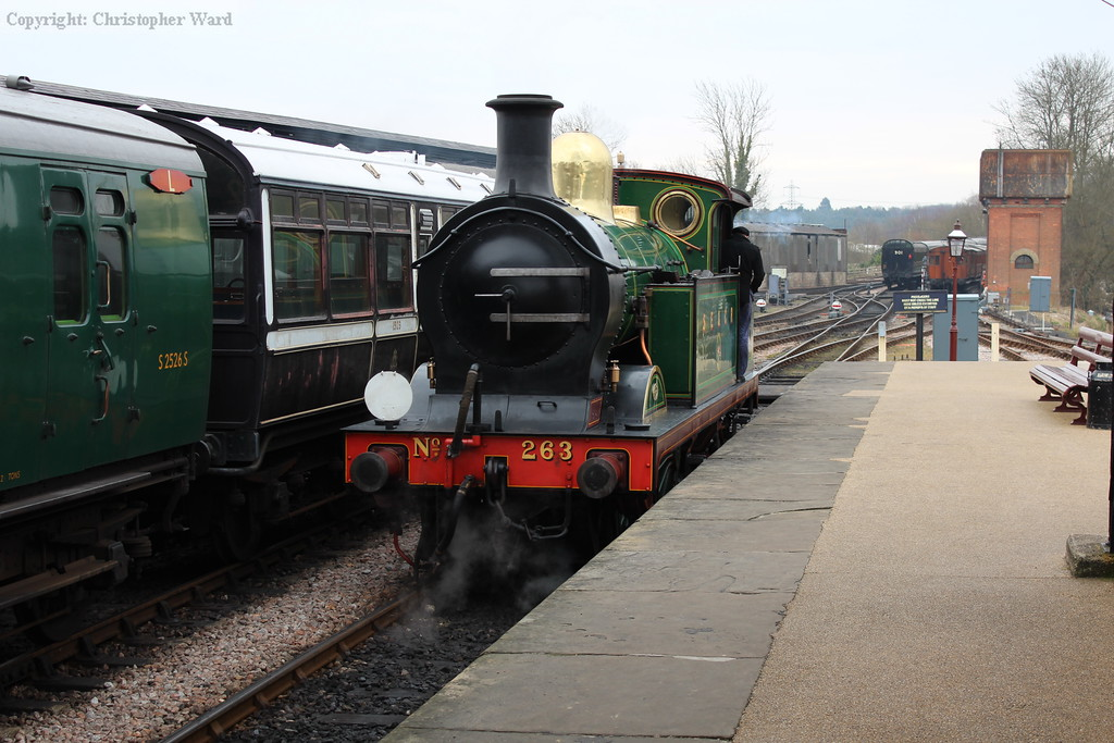 The H class moves off to collect her stock from the pumphouse siding