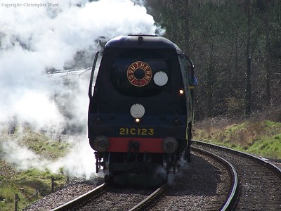 The Bulleid arrives