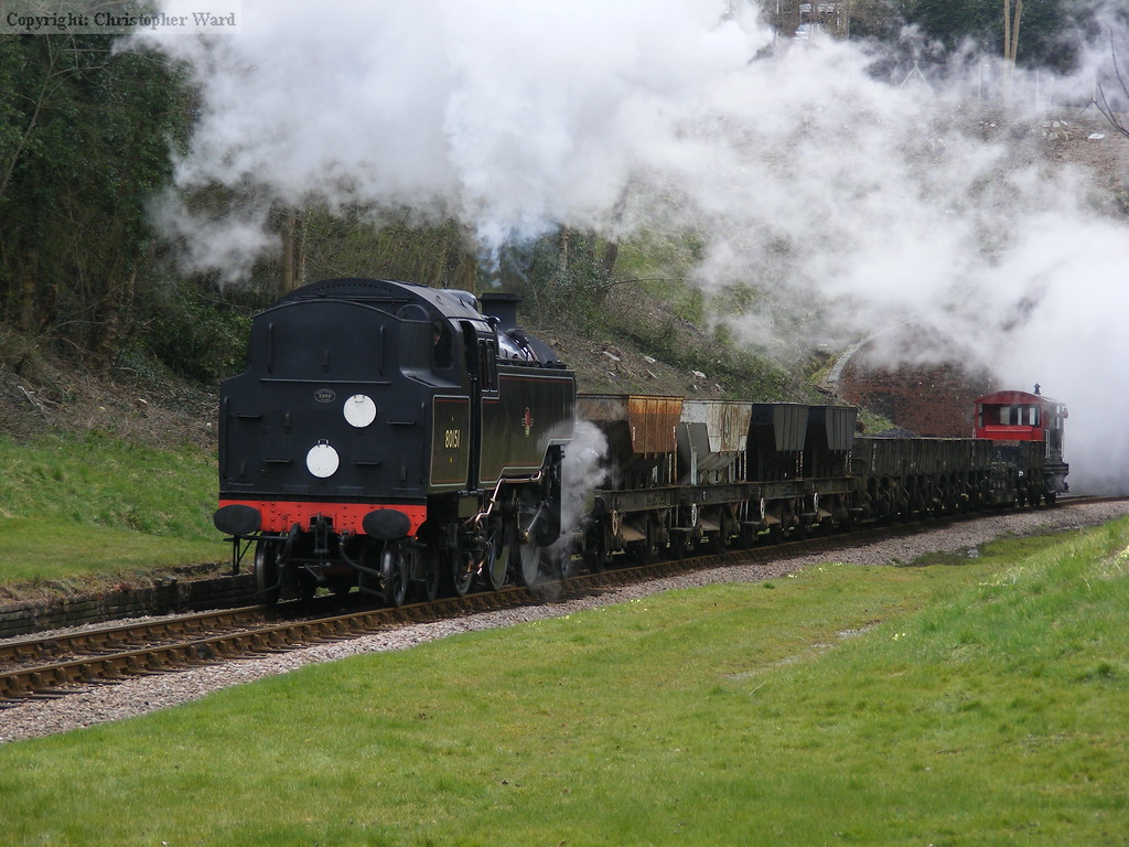 80151 with the engineers train