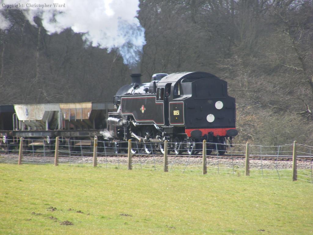 80151 with an engineers train