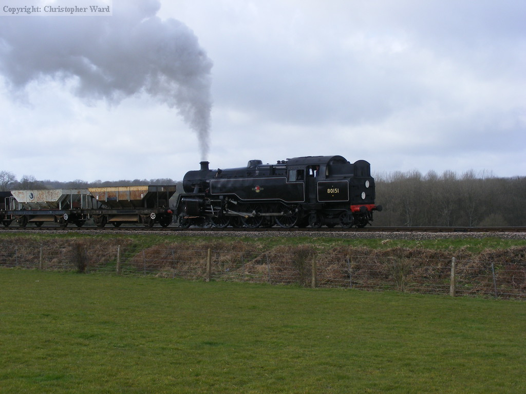 80151 approached Horsted Keynes