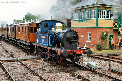 Bluebell tails the shuttle out of Horsted