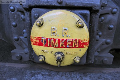 An axle cover on the tender of the 9F
