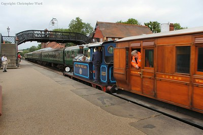 Bluebell shunts into the station