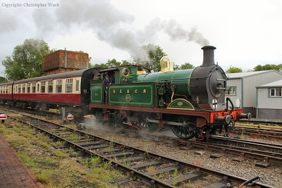 263 brings the Wealden Rambler set into the station to form the first train of the day