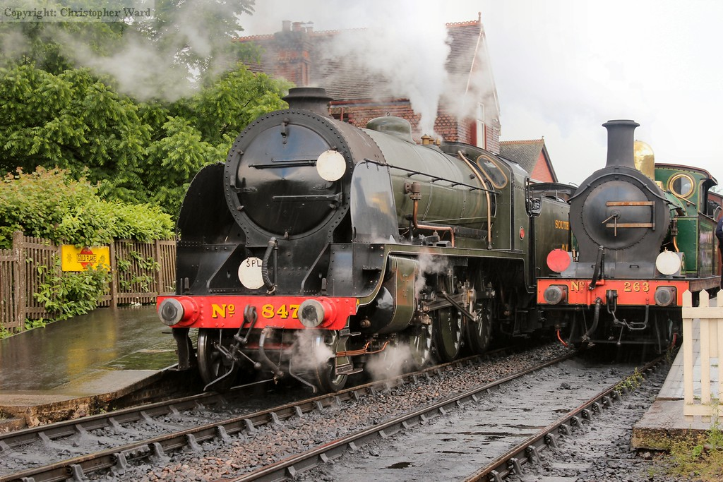 847 and 263 rub shoulders at Sheffield Park