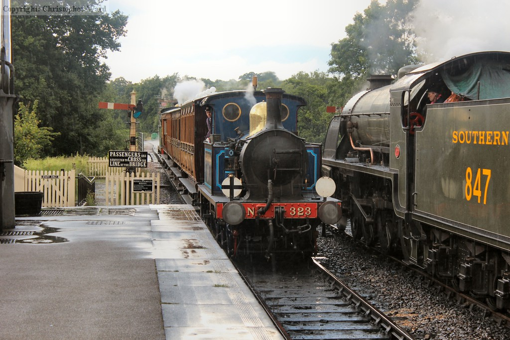 Bluebell runs in with the Horsted shuttle