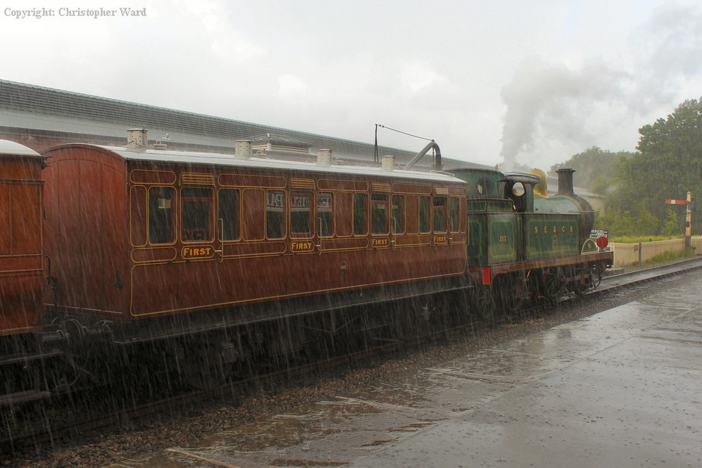 As the heavens open, 263 waits to head back to Horsted Keynes