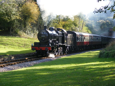 53809 brings the Pines Express through a sunny West Hoathly. And odd diversion...