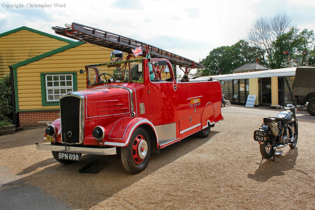 The vintage Dennis fire engine