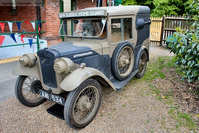 One of the vintage vehicles
