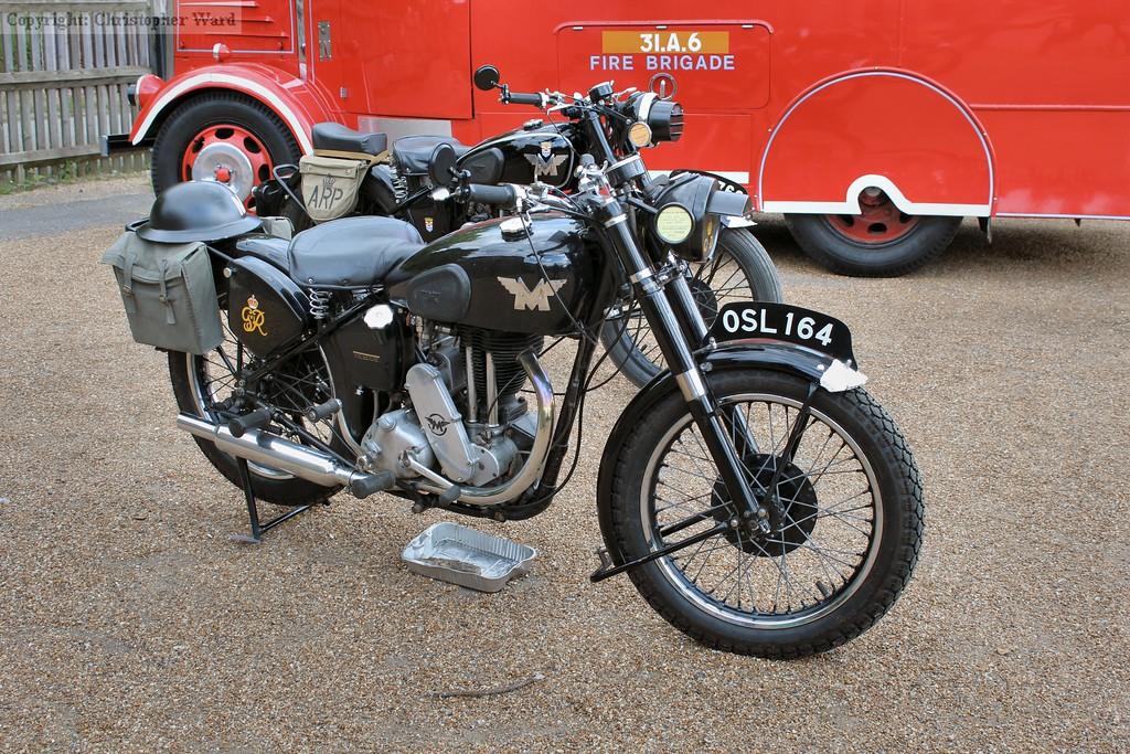 Vintage motorcycle on display