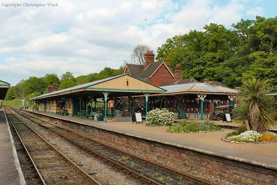 Horsted Keynes station in the afternoon sunshine