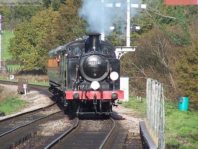 32473 arrives at Sheffield Park