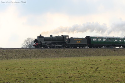 1638 brings the first train of the day north