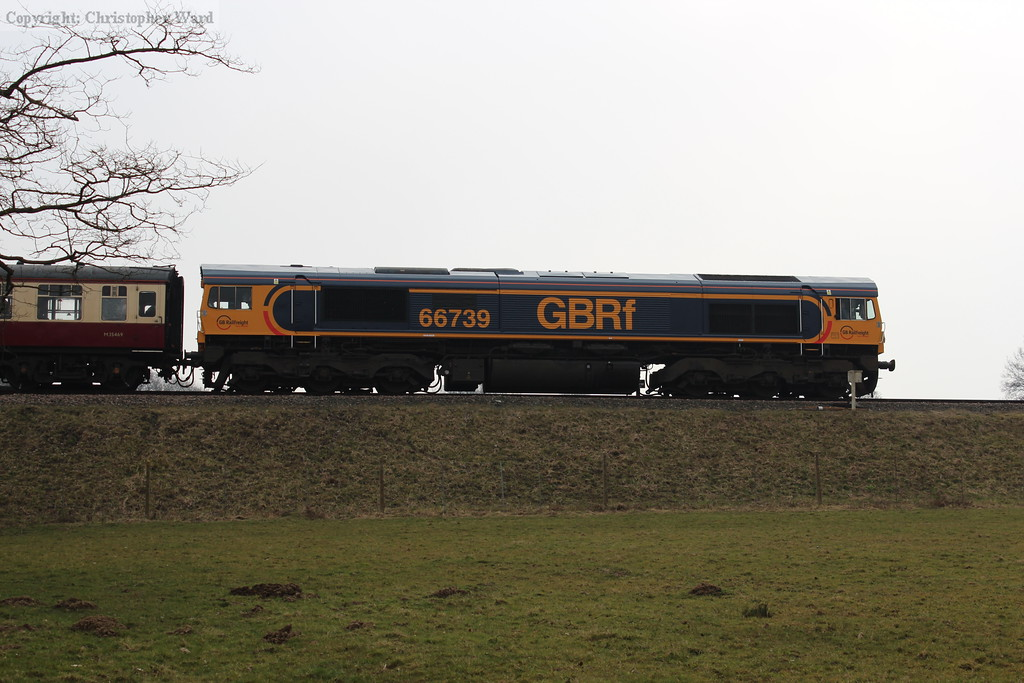 66739 heads south from Horsted Keynes