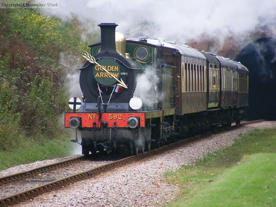 In full regalia the C class gets to grips with the train