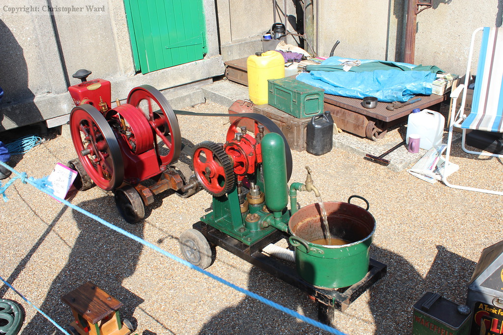 One of the stationary engines on display on the platforms