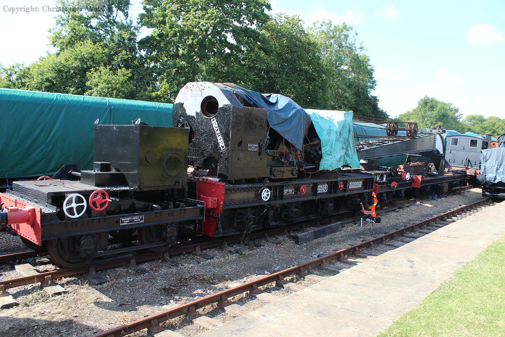 The steam crane rarely displayed somewhere accessible at Horsted Keynes