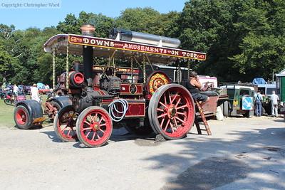 A vintage fairground traction engine