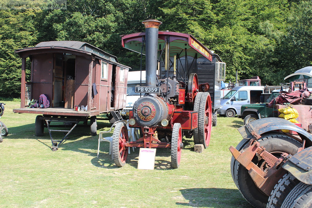 One of the vintage vehicles making up the display