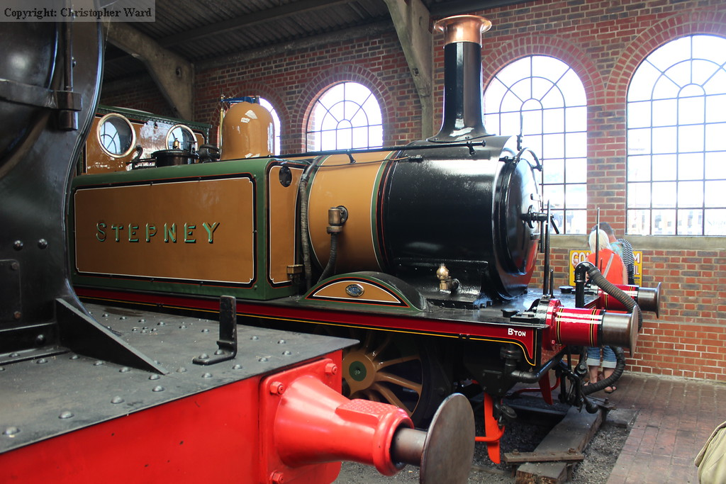Stepney shows off her new coat of Improved Engine Green in the shed