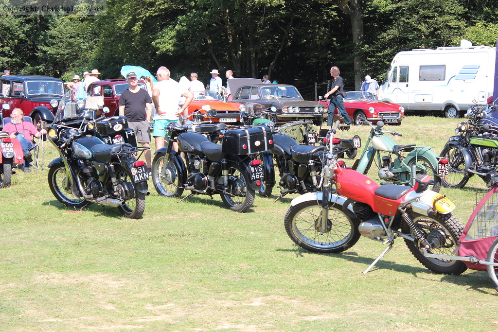 A selection of the vintage motorcycles on display