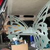 Arrival of The Butterfly Bench in Allred's Truck  4-21-05