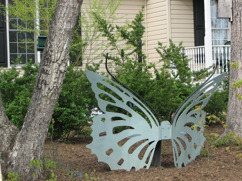 New Location for The Butterfly Bench - Facing Butterfly Garden