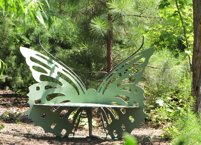 Butterfly Bench Gets A New Coat Of Paint