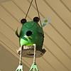 Frog Birdhouse - House Wren Built a Nest In It
