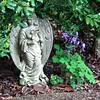 Angel Statue and Purple Columbine