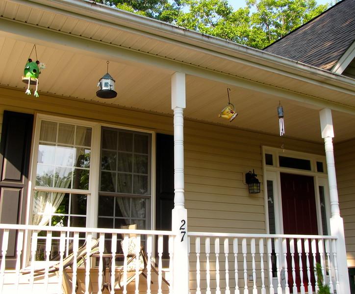 Birdhouse, Birdfeeder, Pitcher For a Nest & Watkins Chimes - Front Porch
