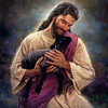 "Lamb of God by Nathan Greene<br /> ""The Lamb of God"" - The Lamb to fulfill all sacrifices and to take our sins, diseases, grief, pain and sorrows. The God who died to set us free and give us a more abundant life. It has brought me into a place of peace and rest that I have not known before. To me He is saying, ""We are One! You in Me. Joint heirs. I have you with one hand on each front leg so you can't run any more. Remain in Me. My hands are pressing you into My heart. My hands holding your legs from DOING. It's time for BEING. See the joy on My face and notice a declaration of FINALLY in it? You are mine and I am yours. We are ONE. I see your love for Me in your eyes. Oh! how I have wanted this relationship with you."""