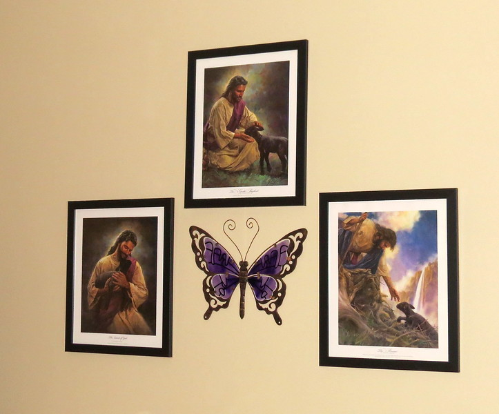 Nathan Greene's #1-3 Purchases<br /> Wall arrangement above couch in Master Bedroom.