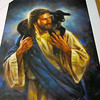"The Good Shepherd #4 by Nathan Greene<br /> ""We are one (a joint heir) to live the abundant life."" -- ""My brokenness is gone. You can hold me fast. We are ONE. I am Yours, and You are mine."" -- ""We are walking away from disease .... leaving it all behind us."" -- ""Jesus this is your obstacle. It's totally on your shoulders."" -- ""You have been in the wilderness attacked by wild animals unable to break through and no knowledge of me as your Shepherd. Stay connected to me. FIXED ON ME (Is. 26:3). Seek and sink into my love. I am carrying you away from the wild animals who threaten your life. We are going back home (home = flock, fellowship, protection and favor with God and man). You are my ""one sheep"" I left to find."