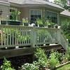 Deck and Rear Flower Beds - Deer Keep Joe Pye Weed Pruned