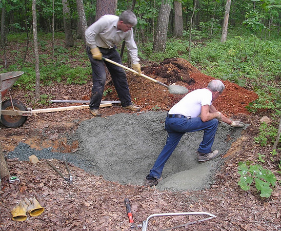 Pond Project for Bluebird Cove - July 2004