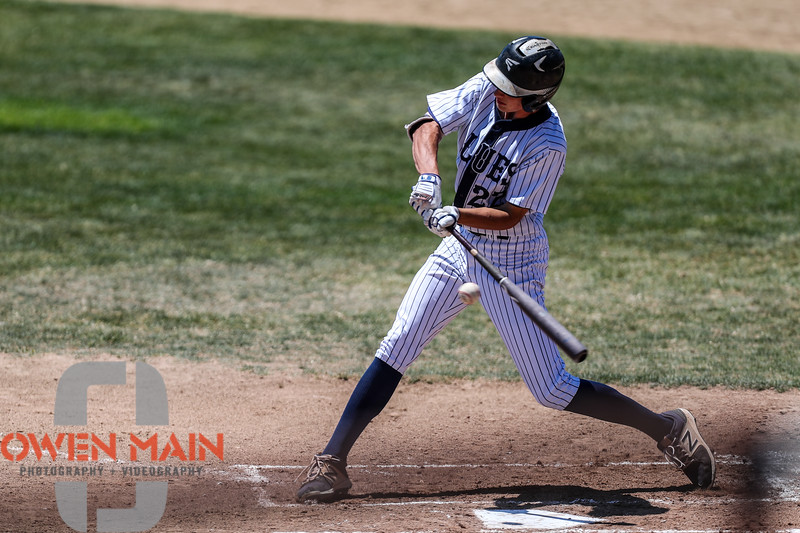 San Luis Obispo Blues faced the Santa Maria Packers at Sinsheimer Stadium in San Luis Obispo, CA on May 28, 2018. 5/28/1812:37:26 PM <br /> <br /> Photo by Owen Main