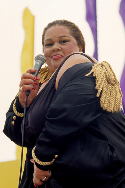 Etta James and the Roots Band performing at the San Francisco Jazz Festival in September, 1991.
