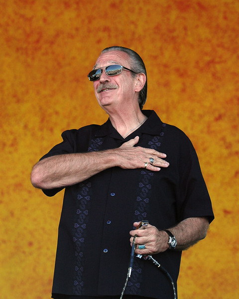 Charlie Musselwhite sits in with G. Love & Special Sauce at the New Orleans Jazz & Heritage Festival on April 24, 2005.
