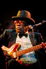 John Lee Hooker performs at the Bay Area Music Awards in San Francisco in 1990.
