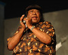 James Cotton takes part in the Harmonica Tribute to Little Walter in the Blues Tent at the New Orleans Jazz & Heritage Festival on April 24, 2005.