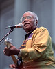 Pops Staples performs at the Bread & Festival at the Greek Theater in Berkeley in 1991.
