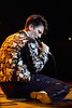 K.D. Lang performs at the Warfield Theater in San Francisco in 1992.