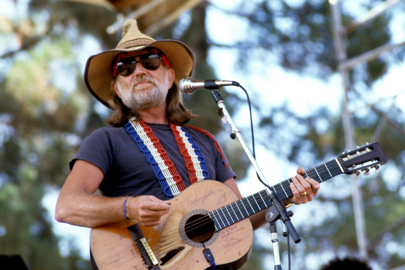 Willie Nelson performing at Spartan Stadium in San Jose, California in 1982.
