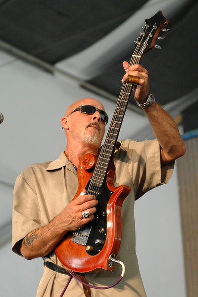 John Mooney performing live on stage at the New Orleans Jazz & Heritage Festival on April 22, 2005