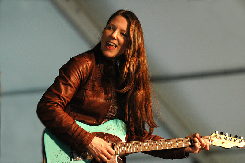 Susan Tedeschi performs in the Blues Tent at the New Orleans Jazz & Heritage Festival on April 23, 2005