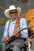 "Clarence ""Gatemouth"" Brown performs at the New Orleans Jazz & Heritage Festival on April 28, 2005."